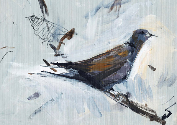 Pigeon post painting